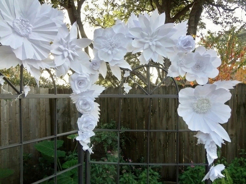 Paper flowers for wedding decoration wedding ideas armenian background combined with fabric and paper flowers mightylinksfo